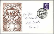 GB 1968, 8th Wiltshire Philatelic Federation Convention Card #C30115