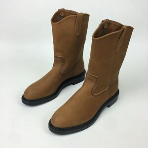 """NEW Red Wing Pecos BOOTS 11"""" SOFT TOE PULL ON Oiled Nubuck Mens Sz 11.5 B"""