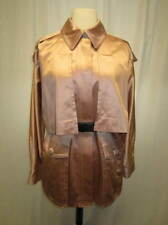 MARC JACOBS blush pink satin black belted cape jacket Size 6