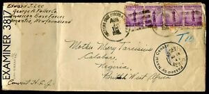 USA 1941 Censored Cover - American Base Forces Newfoundland - to West Africa