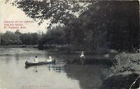 Mt Pleasant~Chippewa~Red Bridge~Ladies in White Canoeing~1916 Postcard