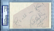 JACK OAKIE Vintage 2x Signed Album Page w/ Rare Photo The Great Dictator PSA/DNA