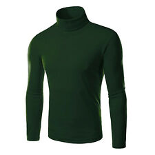 polo de algodón elástico jersey de cuello alto de ropa masculina de los hombres