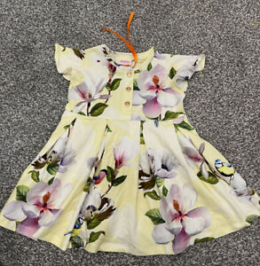 Baby Girls Ted Baker Yellow Dress Outfit 6-9 Months