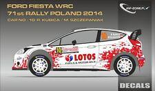 DECALS 1/43 FORD FIESTA WRC - #10 - KUBICA - RALLYE DE POLOGNE 2014 - MFZ D43323
