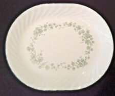 CORELLE BY CORNING CALLAWAY OVAL SERVING PLATTER GREEN IVY Used cond