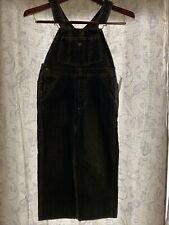 New Kids Oshkosh Blue Denim Overalls size 7 made in Usa Vest Back (P)