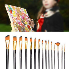 NEW 15 PCS PAINT NYLON BRUSH SET FOR OIL WATERCOLOR ACRYLIC PAINTING ARTIST CRAF