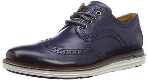 Mens Cole Haan Original Grand Wing Ox - Marine Blue Leather, Size 15 M [C31150]