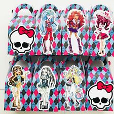 4x Monster High Lolly Loot Bag Box. Party Supplies Bunting Cake Banner Zombie