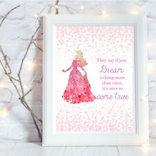 A4 Print Princess Aurora Quote,Wall Art-NO FRAME