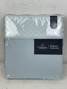 Christy 'Palace' in Moonlight Blue Super King Flat Sheet 310x270cm Diamond N696