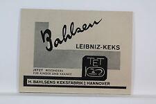 Bahlsen Leibniz-Keks - Kleine Werbetafel - um 1935 (?)   K 1/1/3