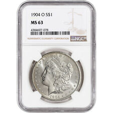 1904-O US Morgan Silver Dollar $1 - NGC MS63