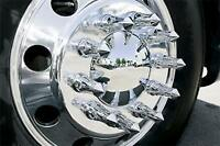 10 Chrome ABS Lug Nut Covers Towering Inferno Flames 33mm