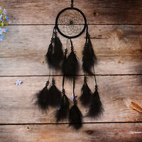 """Black Handmade Dream Catcher Feather wall hanging decoration Ornament 20.8"""" Long"""