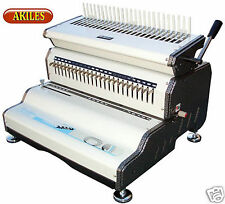 Akiles Combmac 24e Comb Binding Machine Amp Electric Punch 14 Inch New