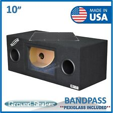 "10"" Dual Subwoofer Enclosure / Dual 10"" Bandpass ported / Vented sub box"