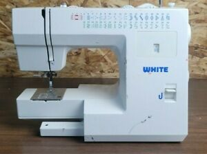 White 2037 Mechanical Sewing Machine with power cord/pedal