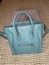 Celine Nano Luggage Crossbody Bag In Radiant Turquoise *rare colour*