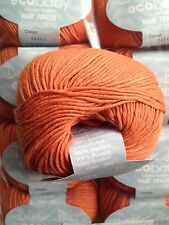 9 x 50g Debbie Bliss Eco Baby - Shade 43 Tangerine