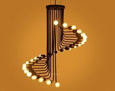 LED Spiral Chandelier Light Fixture Lamp Unique Lighting Dining Living Bed Bath
