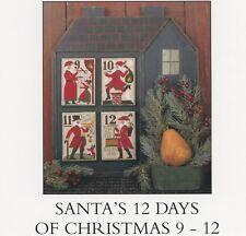 Prairie Schooler - Santa's 12 Days of Christmas 9 - 12 Cross Stitch Pattern OOP