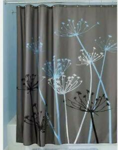 "InterDesign Thistle Shower Curtain - Gray/Blue (72"" x 72"") FREE SHIPPING"