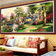 DIY 5D Diamond Embroidery Painting Beautiful Garden House Cross Stitch Decor