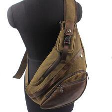 Men Canvas Travel Hiking Cross Body Messenger Shoulder Sling Back pack Chest Bag