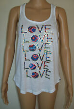 L.A. Kitty Womens Tank Top Size M Love Marled Multicolor High Low Hem Scoop Neck