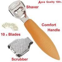 Foot Care Hard Dead Skin Scraper Remover Callus Shaver Pedicure Tools &10 Blade