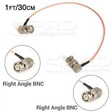 CGPro Ultra Thin Dual Right Angled BNC HD-SDI 3G-SDI Cable (1FT/30CM) UK!