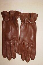 Paire de gants marron en cuir neuf taille 8 étiqueté à 59€ (ch)