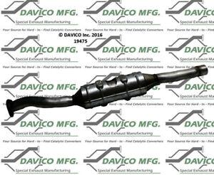 Catalytic Converter-Exact-Fit Rear Davico Exc CA 19475