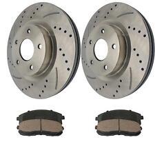 2 Front Brake Rotors + 4 Ceramic Pads For Nissan Altima 2009 2007-08 2010-13