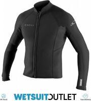 O'Neill Reactor II 2mm Neoprene Wetsuit Front Zip Jacket BLACK Surfing Shirt