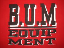 Vintage Early 90s Bum Equipment Crew Neck Sweatshirt B.U.M T Shirt Hip Hop Rap M