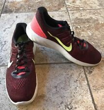Nike Running Lunarlon Mens Shoes Size 11.5 Red Black Fly net