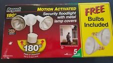 NEW REGENT MS185RWB 180° Motion Activated Security Floodlight w/Lamp Covers