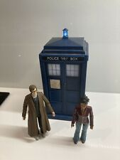 David Tennant's 10th DR Who light up and sounds 9 inches high Tardis & 2 Figures