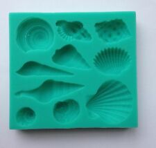 Shell Seashells Silicone Fondant Mold Cake Cupcake Flower Embossing Seashell