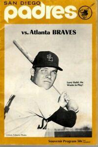1971 (July 30) Baseball Program, Atlanta Braves @ San Diego Padres, scored ~Fair