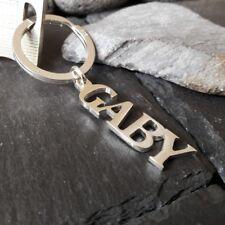 Schlüsselanhänger mit Wunschname in 925er Silber, Schlüsselring, Namensschmuck