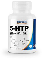 Nutricost 5-HTP 200mg, 60 Capsules (5-Hydroxytryptophan) - Gluten Free, Non-GMO