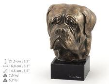 Dogue de Bordeaux, dog bust marble statue, ArtDog Limited Edition, Usa
