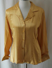 Harve' Benard, Small, Silk Golden Lustre Button Front Shirt, New with Tags