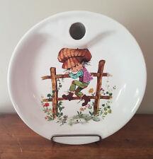 Ancienne assiette à bouillie vintage en porcelaine Reveol