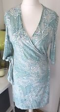 Turquoise wrap dress Lined Size 12