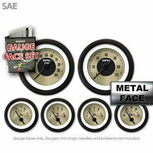 Gauge Face Set - SAE American Classic Gold